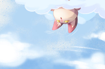 little kitten in the clouds - yavi.pro