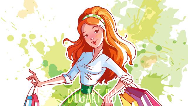 Плакат с девушкой для магазина косметики