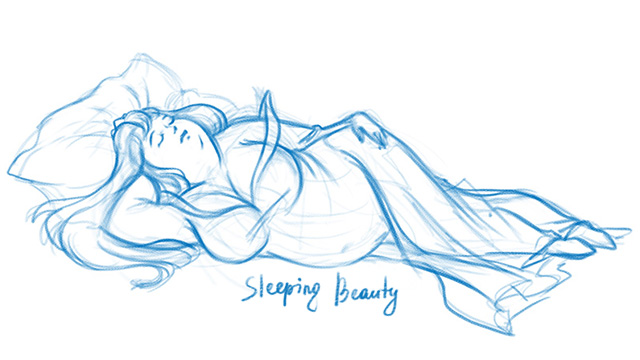 sleeping beauty sketch