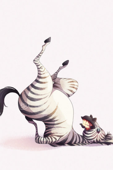 zebra and yoga