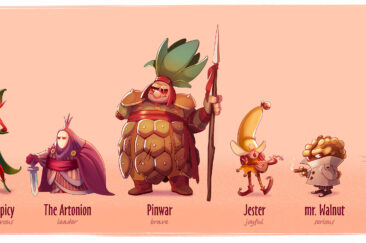 character design - line up