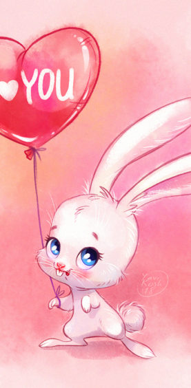 cute little bunny for valentine's day